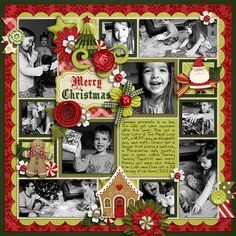 Merry Christmas  -  Page by Brook Mage -- Ho Ho Ho by lliella designs Cindy's Layered Templates - Single 28: Lots of Snapshots 4 by Cindy Schneider DJB Fonts: Girls Just Want a Fun F...