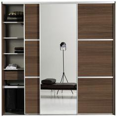 Contemporary wardrobe / MDF / aluminum / sliding door BA00 BoConcept
