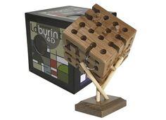 Juego de ingenio Laberinto 4d, cubo de madera con agujeros y caminos. www.electropolis.es