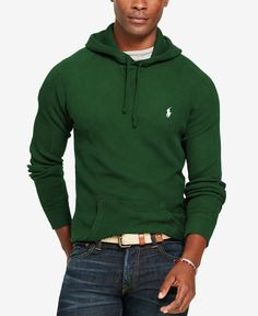 "Lightweight cotton makes this Polo Ralph Lauren hoodie excellent for layering when the temperature dips. | Cotton | Machine washable | Imported | Size medium has an approximate 27-1/2"" body length and"