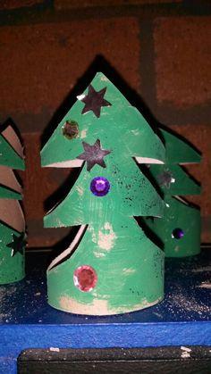 Kerst 2013 Kerstboom van een wc rol