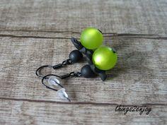"""Ohrhänger - Ohrhänger """"iceplant"""" apfelgrün - ein Designerstück von things2enjoy bei DaWanda"""