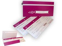 Hochzeitskarten - Love Ticket Ticket, Bunt, Card Wedding, Invitation Cards