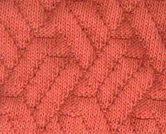 Pavilion stitch   http://www.knittingonthenet.com/stitches/pavilion.htm