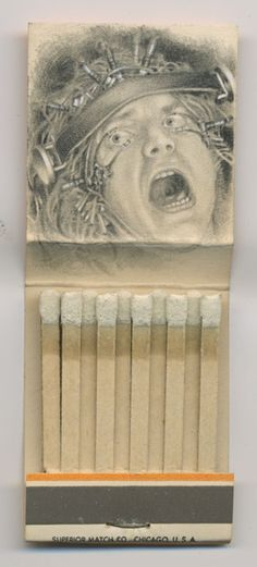 Awesome matchbook art by Jason D'Aquino
