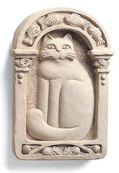 Cat Plaque - Carruth Studio