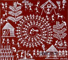 Warli Painting- Maharas Contemporary Warli, tribal | warli warli painting, how to warli , indian warli painting, warli painting idea, how to make warli painting, indian arts, #warli #warlipaintinghtra