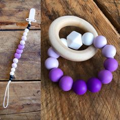 Excited to share the latest addition to my #etsy shop: Pacifier Clip & Teether Combo #toys #children #beads #clip #soother #pacifier #chewlery #baby #teether
