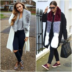 Fashion Fade Magazine : 36 Ways To Look Fab In Fur This A/W: fur stole scarf outfits