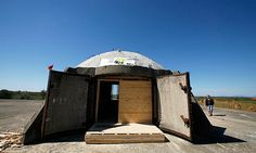 """A new book featuring step-by-step guides for converting derelict bunkers into everything from hostels and toilets to cafes and gift shops was feted at the Venice Biennale, where it was recently launched. Elian Stefa, one of the authors of Concrete Mushrooms, estimates the cost of repurposing a triple bunker for campers at just €150 (£120). """"The potential is huge, especially for tourism,"""" he said."""