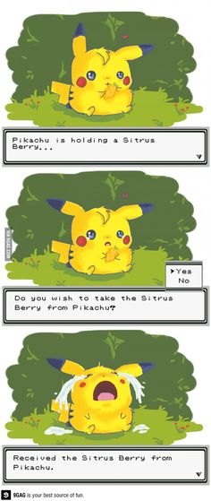 Poor Pikachu! Does this happen every time? What have I been doing to my Pokemon!?