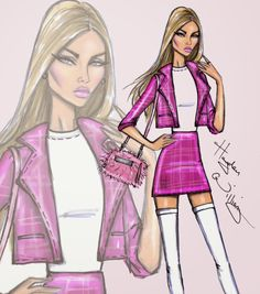 Hayden Williams Fashion Illustrations: 'Rich Girl' by Hayden Williams