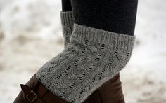 lace knee socks from ravelry (neutrals, basics, lace knee socks, knit socks, brown leather boots, tights)