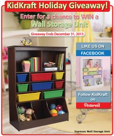 Enter for a chance to WIN a Espresso Wall Storage Unit! One winner will be chosen on December 31, 2013.