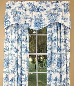 Lenoxdale Toile Scalloped Valance