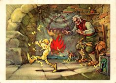 This Is Me, Pinocchio! (Artist L. Vladimirsky)  «It's - I, Pinocchio,» - said the doll, jumped to the floor and began to dance and jump.  A.Tolstoy «The Golden Key»
