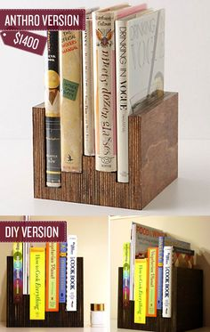 Build this bookcase. | 38 Anthropologie Hacks Lots of good stuff here!
