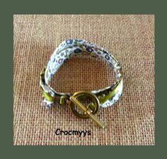 Bracelet liberty faiford beige double tour : Bracelet par crocmyys