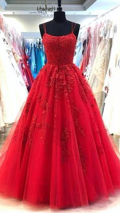 Homecoming Dresses Long, Prom Girl Dresses, Prom Party Dresses, Formal Evening Dresses, Ball Dresses, Dance Dresses, Quinceanera Dresses, Evening Gowns, Red Ball Gowns