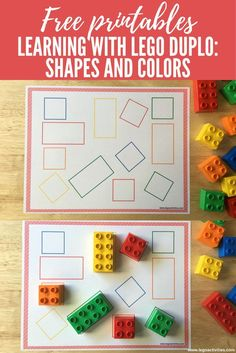 Discover thousands of images about Learning with LEGO DUPLO: Shapes and Colors Preschool Learning Activities, Color Activities, Infant Activities, Kids Learning, Learning Shapes, Learning Colors, Dinosaur Activities, Preschool Ideas, Lego Duplo