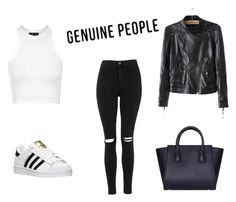 """""""Untitled #203"""" by minna-998 ❤ liked on Polyvore featuring Topshop, adidas, women's clothing, women, female, woman, misses, juniors and Genuine_People"""