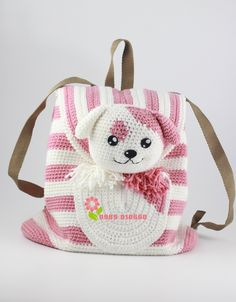 ideas for crochet kids purse girls Mochila Crochet, Bag Crochet, Crochet Backpack, Crochet Purses, Crochet Toys, Crochet Stitches, Kids Knitting Patterns, Baby Patterns, Crochet Patterns