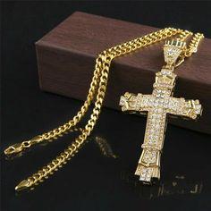 Women/'s Ladies 14k solide or jaune Sideways Crucifix Cross Ring