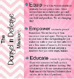 The Damsel In Defense Mission EQUIP * EMPOWER * EDUCATE www.mydamselpro.net/THERESASEBASTIAN