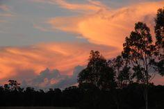 A summer sunset on a calm evening.