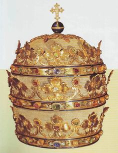 Tiara worn by Pope Pius IX on December 8, 1854