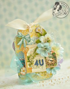 This is a yellow tag with Secret Garden collection of Graphic45.