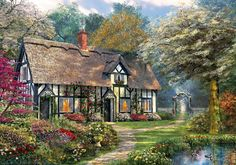 This charming Victorian Garden Cottage is the perfect jigsaw puzzle for keen…