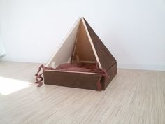 Wooden house for a cat or a little dog. Pet cave от CozyHomeLights