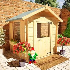 5x5 Wooden Children Log Cabin Playhouse Wendy Play House - Free Delivery