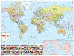 World physical map mountain ranges deserts etc click on each world map a product of mapsofworld which is extensively researched to give details of all the countries of the world is also clickable gumiabroncs Choice Image