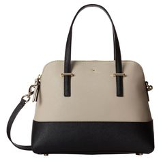 Kate Spade PXRU4471 028 Womens Cedar Street Maise Clock TowerBlack Leather Shoulder Bag