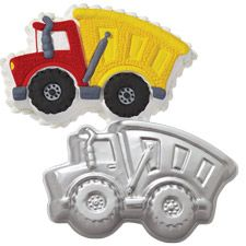 dump truck cake pan  Wilton - get from Hobby Lobby with coupon