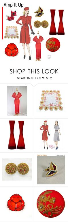 """""""Amp it Up"""" by seasidecollectibles ❤ liked on Polyvore featuring vintage"""