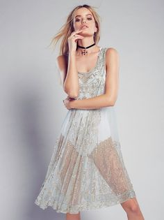 Intimately Free People Evie Embellished Slip Dress