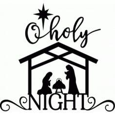 Nativity Scene Vinyl Decal Oh Holy Night Christmas Glass - Nativity vinyl decal for glass block light