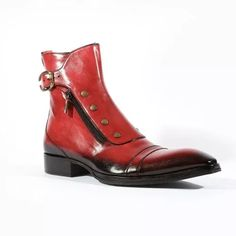 Men's Gentlemen Button Zipper PULeather Ankle Boots High Ankle Boots, Leather Ankle Boots, Shoe Boots, Men's Boots, Mens Short Boots, Mens Boots Fashion, Guy Fashion, Custom Design Shoes, Formal Shoes