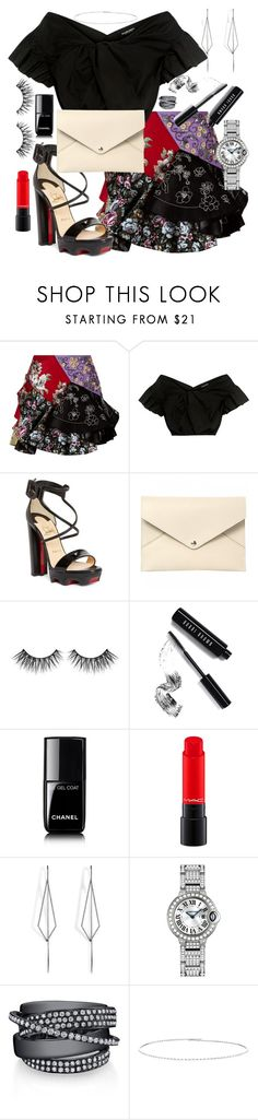 """All about the skirt"" by diana-dabs on Polyvore featuring Alexander McQueen, Rachel Comey, Christian Louboutin, Louis Vuitton, Huda Beauty, Bobbi Brown Cosmetics, Chanel, Diane Kordas, Suzanne Kalan and asymmetricskirts"