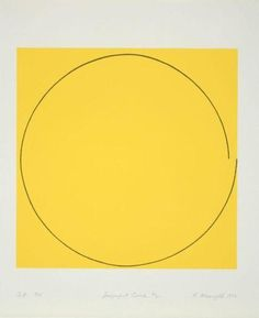 Imperfect Circle 1973 by Robert Mangold on Curiator, the world's biggest collaborative art collection. Yellow Art, Mellow Yellow, Contemporary Abstract Art, Modern Art, Good Day Sunshine, Arte Popular, Grafik Design, Geometric Art, Installation Art