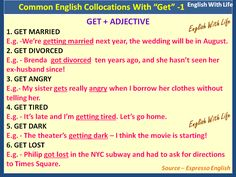"Collocations with ""Get"""