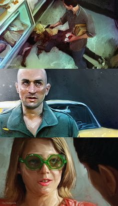 Fan-Art Taxi Driver - At the beginning of this new series of works began to take characters from The popular culture, both musical, such as film, in order to attempt a new list of people giving Aa space in the art world. Hooray For Hollywood, Cinema Posters, Movie Poster Art, Martin Scorsese, Taxi Driver, Illustrations, Popular Culture, Good Movies, Tv