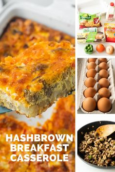 Hearty hashbrown breakfast casserole made with frozen hash browns, breakfast sausage, eggs and cheese. This easy casserole can be prepped overnight and is perfect for Easter and Christmas morning. Hash Brown Egg Casserole, Hashbrown Breakfast Casserole, Sausage Breakfast, Breakfast Recipes, Frozen Potatoes, Easy Meatloaf, Easy Meat Recipes, How To Make Breakfast, Everyday Food