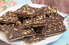 Making candy out of crackers? You have to try it to believe it! This Saltine Toffee recipe is crispy, crunchy, buttery, and so good!