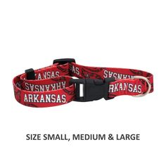 Show support of your favorite team with this adjustable nylon officially licensed Arkansas Razorbacks pet collar! This collar closes with a hard plastic locking clasp for easy access on and off. Arkansas Razorbacks, Pet Collars, Pet Clothes, Pet Dogs, Your Pet, Easy Access, Rust, Medium, Vibrant