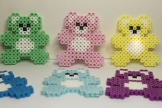 Perler beads baby teddy bears