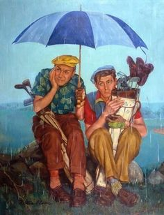 umbrellas.quenalbertini: Frus- trated golf players